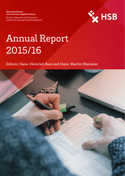 Annual Report 2015/2016 (PDF Available)