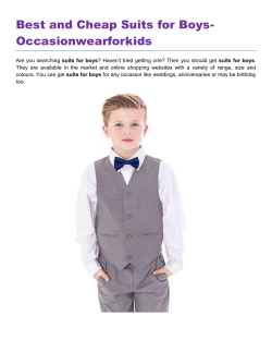 Best and Cheap Suits for Boys- Occasionwearforkids