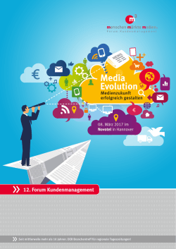 Media Evolution - Forum Kundenmanagement