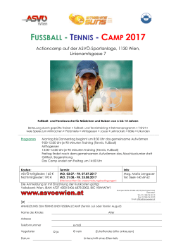 Tennis Fussball Camps