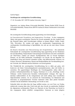 Zum Call for Papers