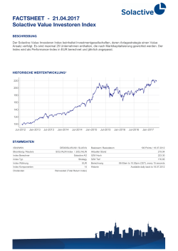 FACTSHEET - 07.02.2017 Solactive Value Investoren Index