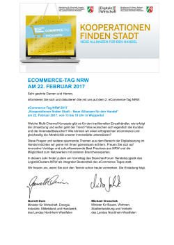 eCommerce-Tag NRW 2017Save the date