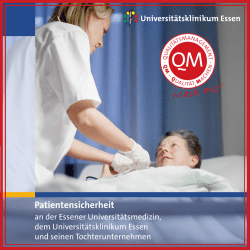 Patientensicherheit - Universitätsklinikum Essen