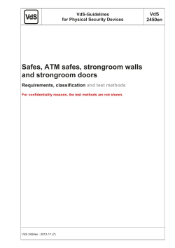 Safes, ATM safes, Strongroom Walls And Strongroom Doors
