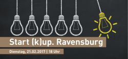 Start (k)up. Ravensburg