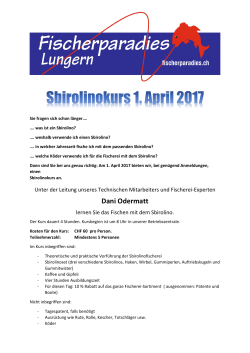 Sbirolino- und Filetierkurs April 2017