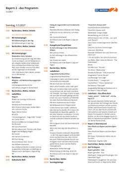 Bayern 2 Programm