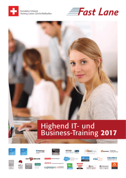 Highend IT- und Business-Training 2017