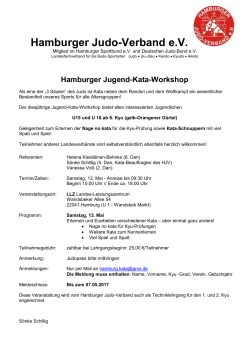 Jugend-Kata-Workshop - Hamburger Judo Verband eV