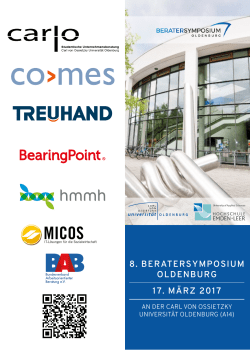 8. beratersymposium oldenburg 17. märz 2017