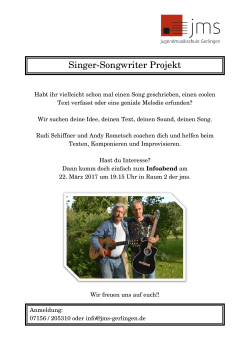 Singer-Songwriter Projekt