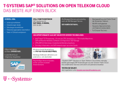 SAP® Solutions on Open Telekom Cloud - T