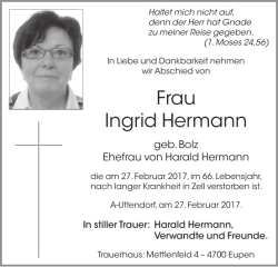 Frau Ingrid Hermann