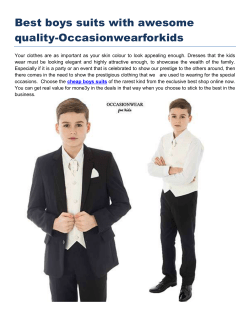 Best boys suits with awesome quality Occasionwearforkids