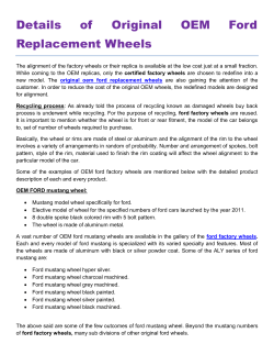 Details of Original OEM Ford Replacement Wheels
