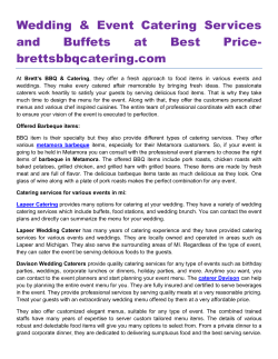 Wedding & Event Catering Services and Buffets at Best Pricebrettsbbqcatering.com