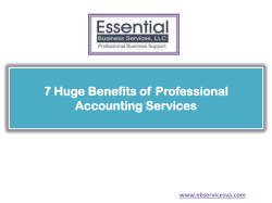 7 Huge Benefits of Professional Accounting Services