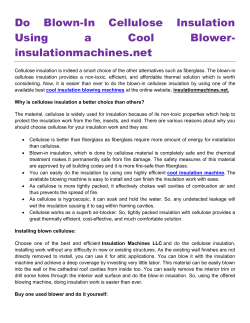 Do Blown-In Cellulose Insulation Using a Cool Blower insulationmachines.net