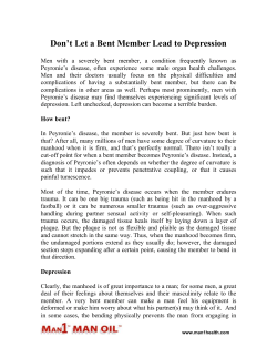 Don't Let a Bent Member Lead to Depression