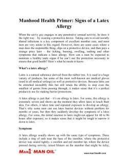 Manhood Health Primer: Signs of a Latex Allergy
