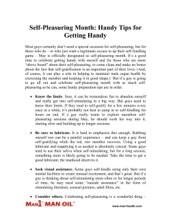 Self-Pleasuring Month: Handy Tips for Getting Handy