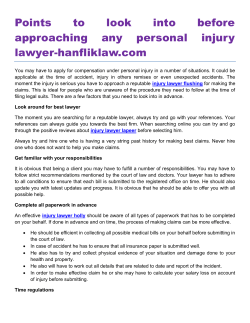 Points to look into before approaching any personal injury lawyer-hanfliklaw.com