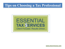 Tips on Choosing a Tax Professional