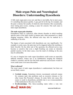 Male organ Pain and Neurological Disorders: Understanding Dyaesthesia