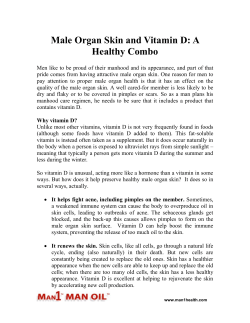 Male Organ Skin and Vitamin D - A Healthy Combo