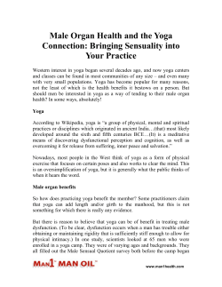 Male Organ Health and the Yoga Connection - Bringing Sensuality into Your Practice