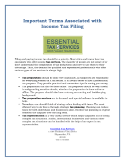 Important Terms Associated with Income Tax Filing