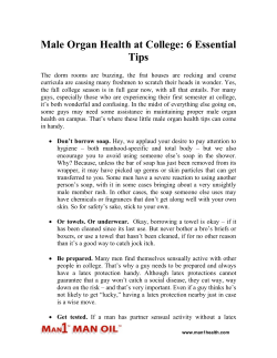 Male Organ Health at College - 6 Essential Tips