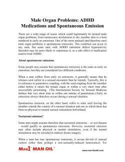 Male Organ Problems - ADHD Medications and Spontaneous Emission