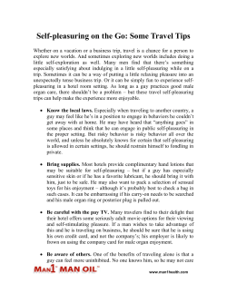 Self-pleasuring on the Go - Some Travel Tips