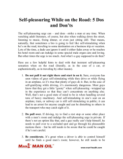 Self-pleasuring While on the Road - 5 Dos and Don'ts