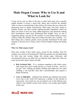 Male Organ Cream - Why to Use It and What to Look for