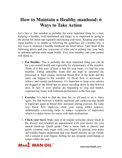 How to Maintain a Healthy manhood - 6 Ways to Take Action