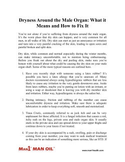 Dryness Around the Male Organ - What it Means and How to Fix It