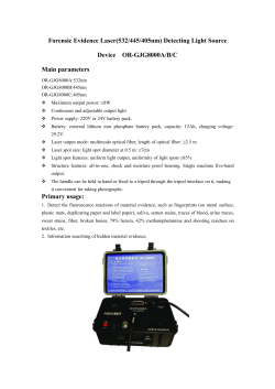 Forensic Evidence Laser(532/445/405nm) Detecting Light Source Device  OR-GJG8000A/B/C