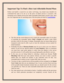 Important Tips To Find A Best And Affordable Dental Plans