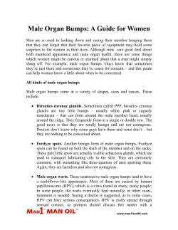 Male Organ Bumps - A Guide for Women