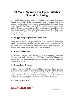 10 Male Organ Power Foods All Men Should Be Eating