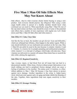 Five Man 1 Man Oil Side Effects Men May Not Know About