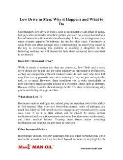 Low Drive in Men Why it Happens and What to Do