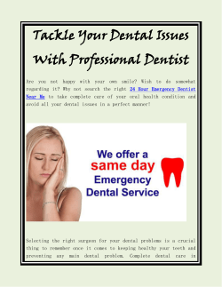 Tackle Your Dental Issues With Professional Dentist