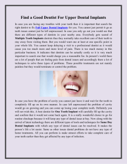 Find a Good Dentist For Upper Dental Implants