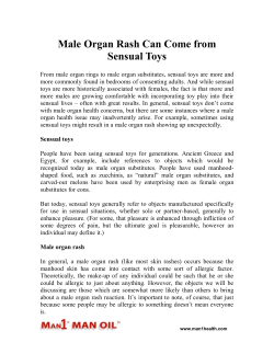 Male Organ Rash Can Come from Sensual Toys