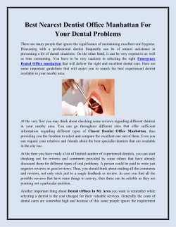 Best Nearest Dentist Office Manhattan For Your Dental Problems