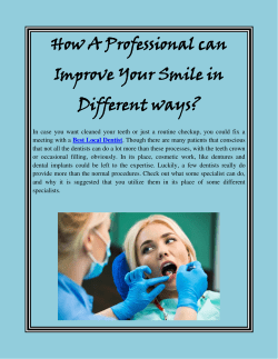 How A Professional can Improve Your Smile in Different ways
